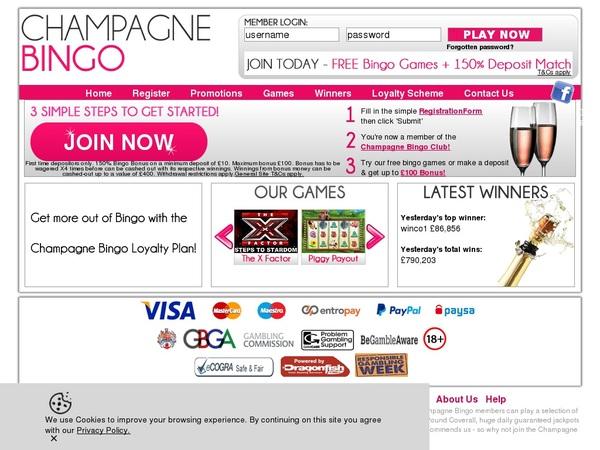 Champagnebingo Live Casino