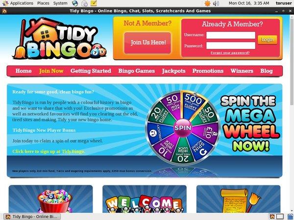 Tidy Bingo For Real Money